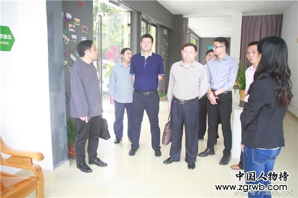 韶关市委组织部副部长骆新航一行到乐北科技产业园区调研