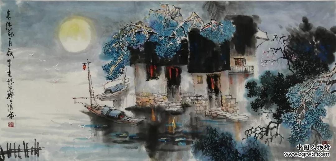 国画家马景岭作品展,今天在山东济南报业大厦隆重开幕