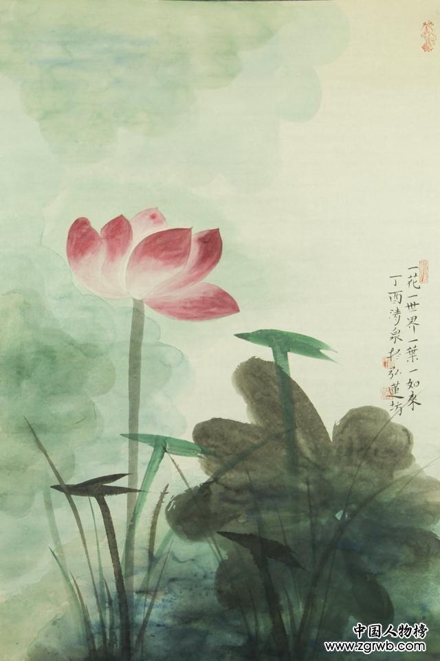 画家林清泉与他的禅意荷花