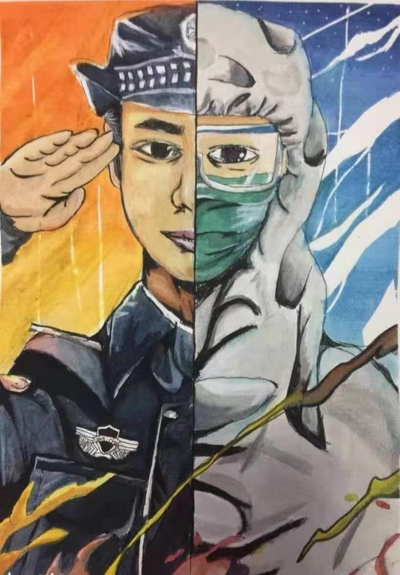 中宣盛世国际书画院青少年书画艺术风采展示—薛雨桐